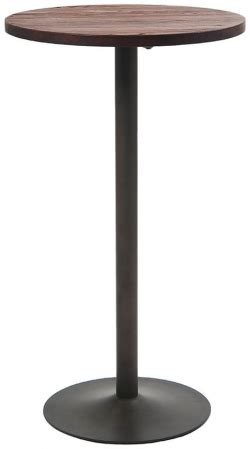 industrial series bar height table with metal base