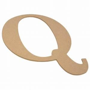 10quot decorative wood letter q ab2041 craftoutletcom for Wooden letter q