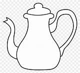 Teapot Coloring Template Clipart Alice Kettle Tea Wonderland Sheets Clip Tombstone Pngkit sketch template