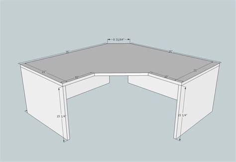 corner desk plans  save space woodworking projects plans