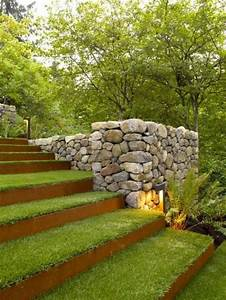 comment avoir un joli jardin en pente jolies idees en With chemin de jardin en pierre 0 fabriquer un escalier en pierre naturelle