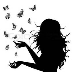 Butterfly and Woman Silhouette