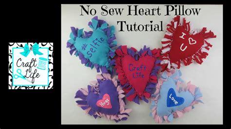 Craft Life No Sew Felt Fleece Or T-shirt Heart Pillow