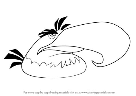 learn   draw mighty eagle  angry birds angry birds step  step drawing tutorials