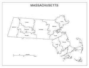 Blank Map of Massachusetts Counties