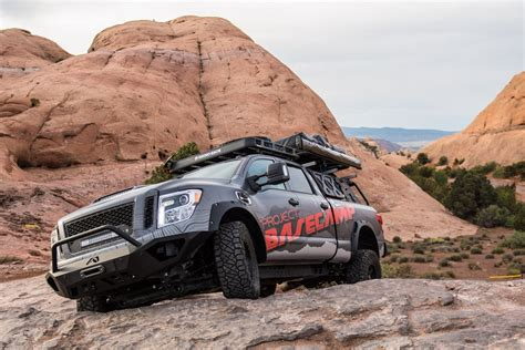 nissan titan xd pro  project basecamp   tough truck carscoops