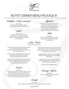 wedding packages tamayo 39 s catering catering packages