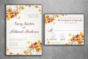 autumn wedding invitation set fall wedding invitation With september wedding invitations ideas