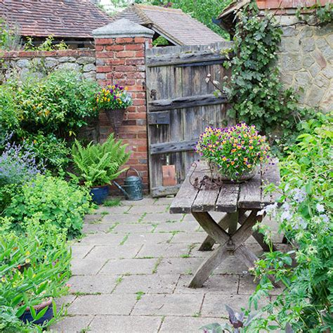 cottage style garden with gate design ideal home