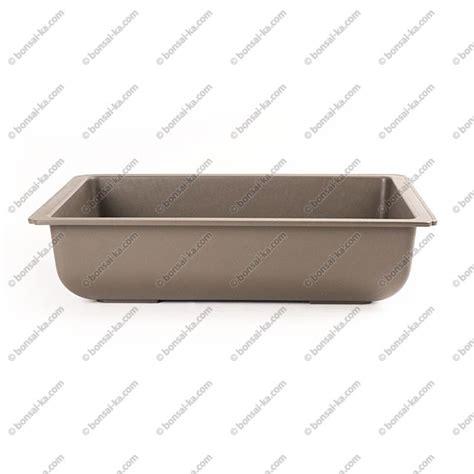 pot de rempotage plastique pot de culture rectangulaire plastique inject 233 brun 420x330x105mm bonsai ka