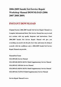 2006 2009 Suzuki Sx4 Service Repair Workshop Manual Download  2006 20 U2026