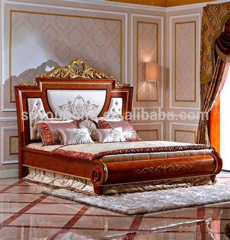 italy  model solid wooden carved bed italian