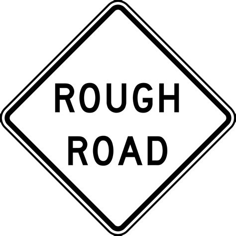 rough road black  white clipart