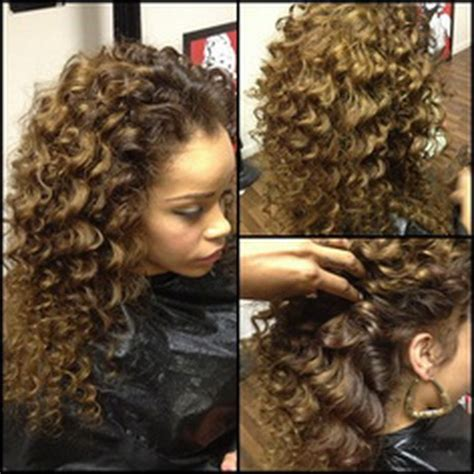 Black Hairstyles Sew Ins Pictures by Curly Sew In Weave Hairstyles