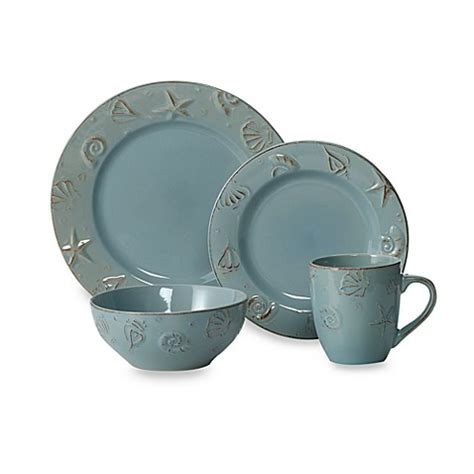 Thomson Pottery Cape Cod 16piece Dinnerware Set Bed
