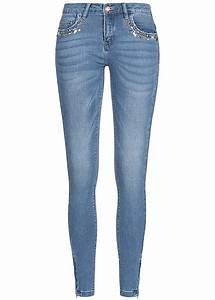 Kaputte Hosen Damen : only damen jeans hose deko steine 5 pockets zipper seitlich medium blau denim 77onlineshop ~ Frokenaadalensverden.com Haus und Dekorationen