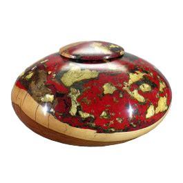 unique wood cremation urn artist  vessel memorial