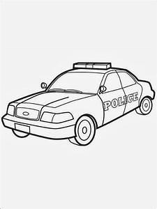 Malvorlagen Gratis MALVORLAGEN POLIZEIAUTO