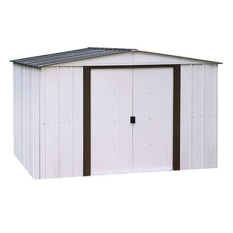 Arrow Galvanized Steel Storage Shed 10x8 by Arrow Newport 10 Ft X 12 Ft Metal Shed Np101267 The