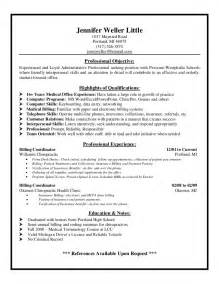 Exle Of Billing And Coding by Exle Resume Biller Resume Sle
