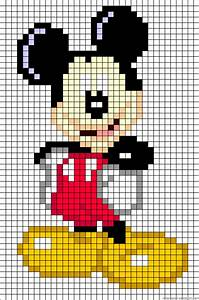 Mickey Pixel Art : also could use for cross stitch too mickey mouse perler bead pattern disney cross stitch ~ Nature-et-papiers.com Idées de Décoration