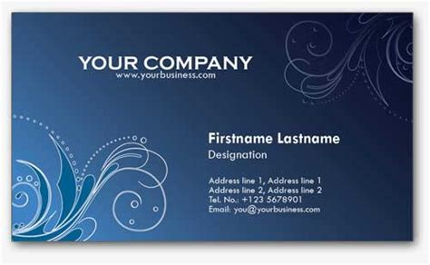 4 Colorful Personal Business Card Templates