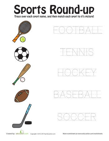 sports up worksheets physical education and english class