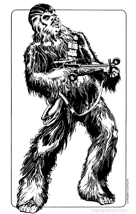 star wars coloring pages chewbacca kylo ren