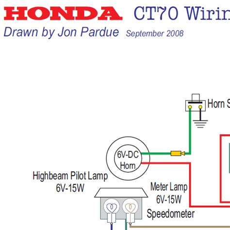 1977 Honda Ct70 Wiring Schematic by Honda Ct70 Wiring Diagram Usa Home Of The Pardue Brothers