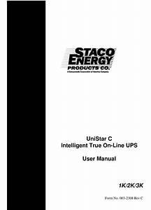 Staco Energy Unistar C User Manual Pdf Download