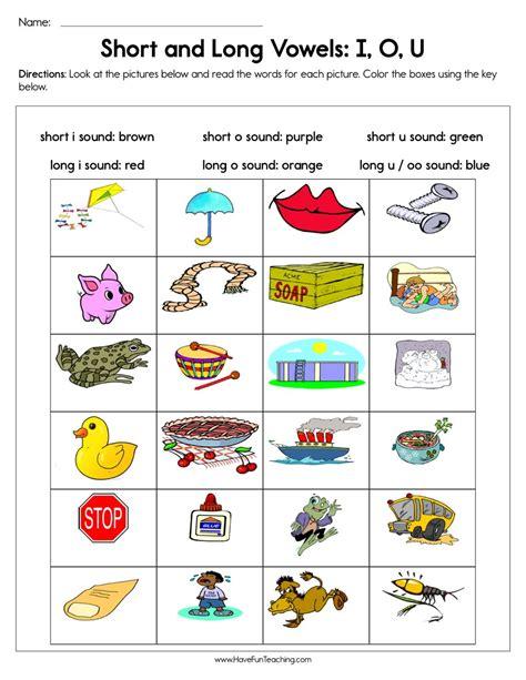 short  long vowels    worksheet  images