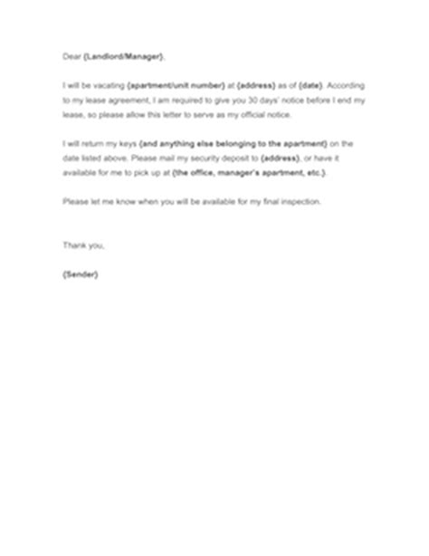 day notice  landlord template