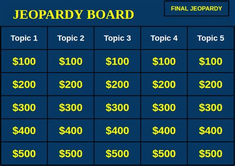 Jeopardy Template Slides 35 Slide Templates Ppt Pptx Free Premium