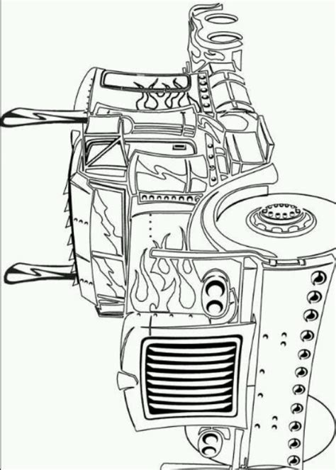 optimus prime coloring page coloring pages pinterest optimus prime coloring  coloring