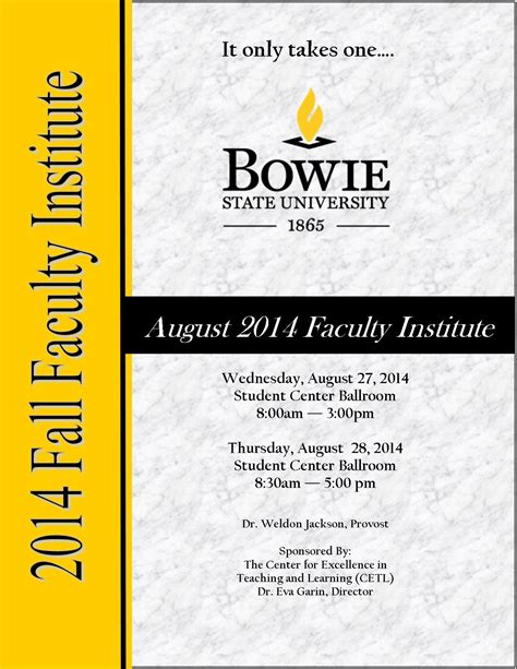 Bowie State Blackboard by Faculty Institute 183 Bowie State
