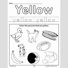 Free Color Yellow Worksheet Supplyme
