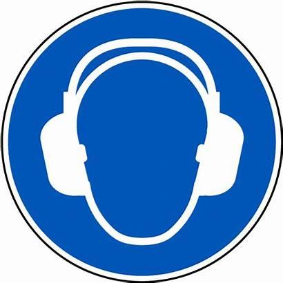 Hearing Protection Symbol Floor Ear Signs Mandatory