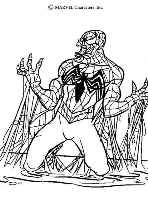 venom coloring pages hellokidscom