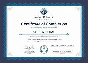 continuing education for teachers With cpe certificate template