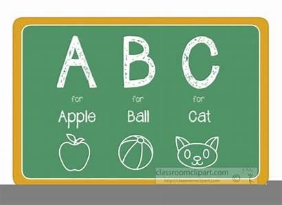 Abc Clipart Chalkboard Alphabets Clip Clker Alphabet