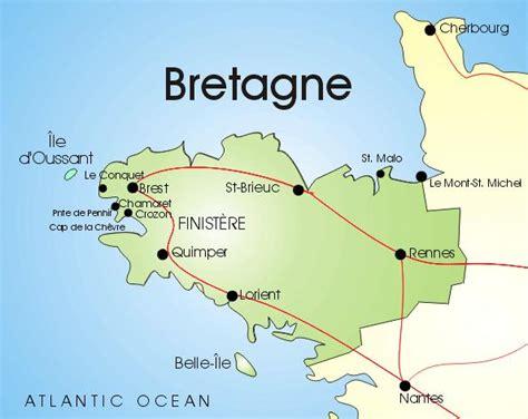 Bretagne Karte Finistere