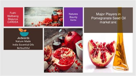 Global pomegranate seed oil market share, industry ...