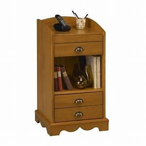 Meuble D Entrée : meuble box meuble t l phone meuble d 39 entr e pin miel beaux meubles pas chers ~ Teatrodelosmanantiales.com Idées de Décoration