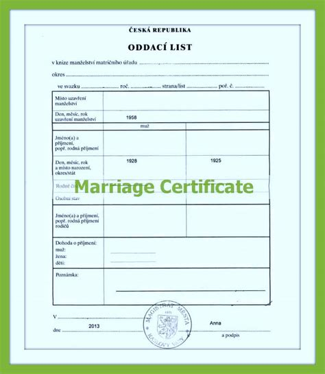 official marriage certificate translation  toronto