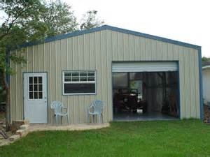 Metal Building Garage with Living Quarters