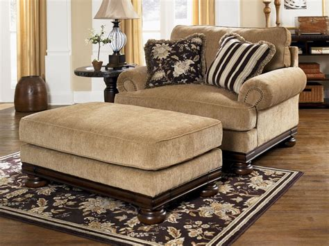 oversized loveseat with ottoman home design ideas