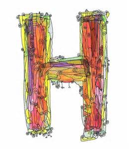 Whimsical Letter H