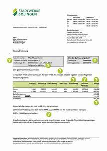 1 1 Telecom Gmbh Rechnung : rechnungserl uterung stadtwerke solingen gmbh ~ Themetempest.com Abrechnung