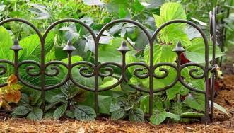 Decorative Garden Fence Border by Beautiful Garden Borders