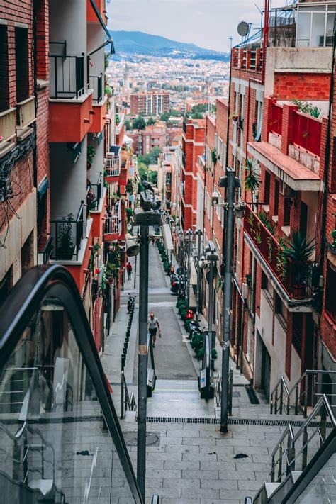 man walking    street  town  stock photo